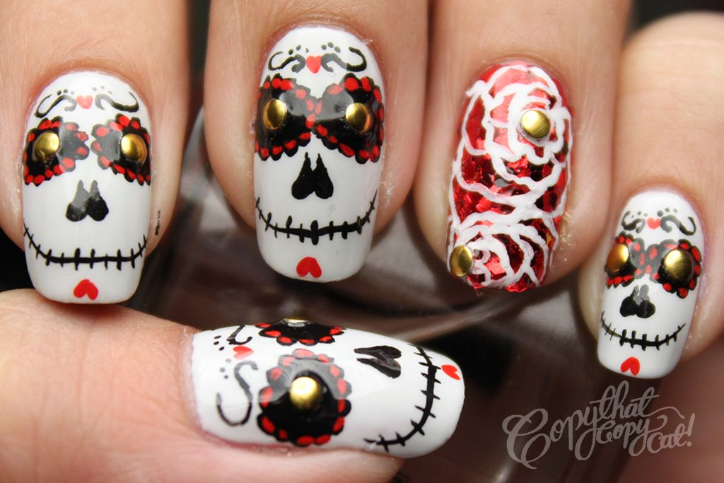 Copy That, Copy Cat: Halloween Nails Day of the Dead Skulls   Nails ...