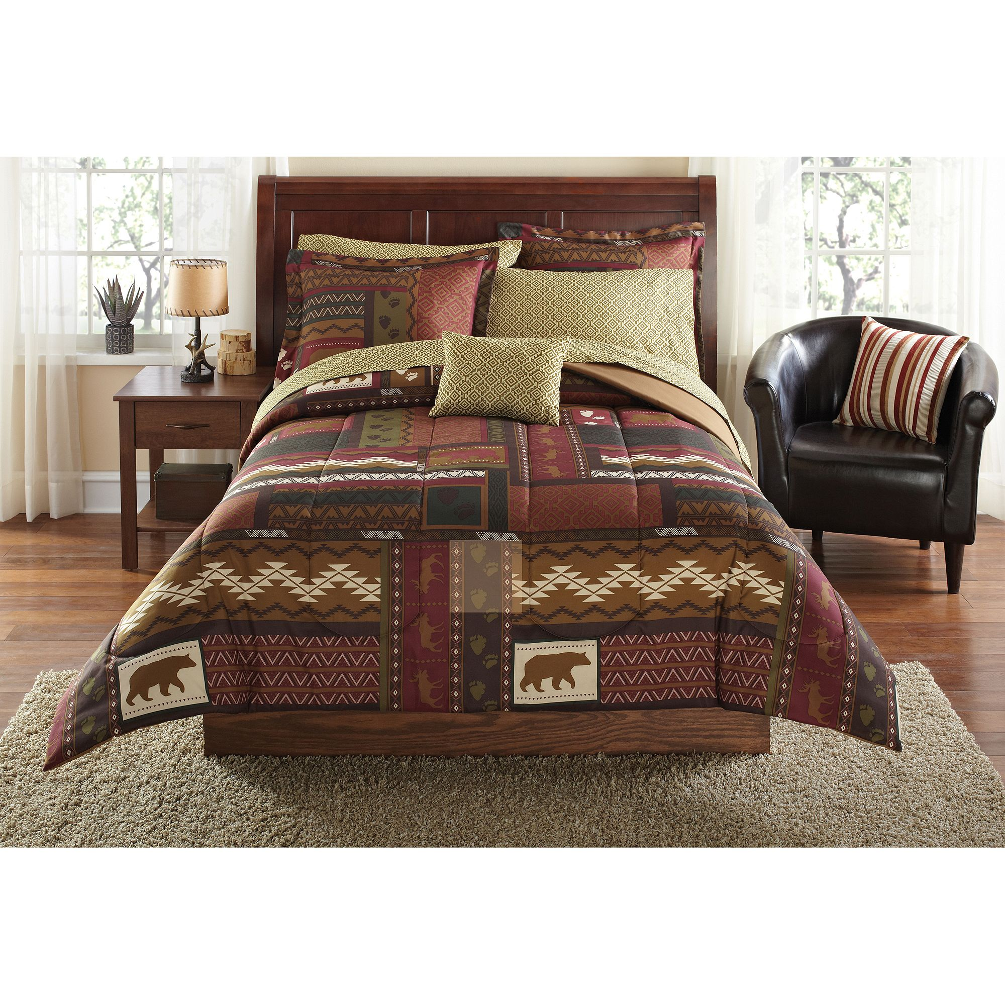 Mainstays Cabin Bed In A Bag Coordinated Bedding Set From Style Setscabin Sets Ho