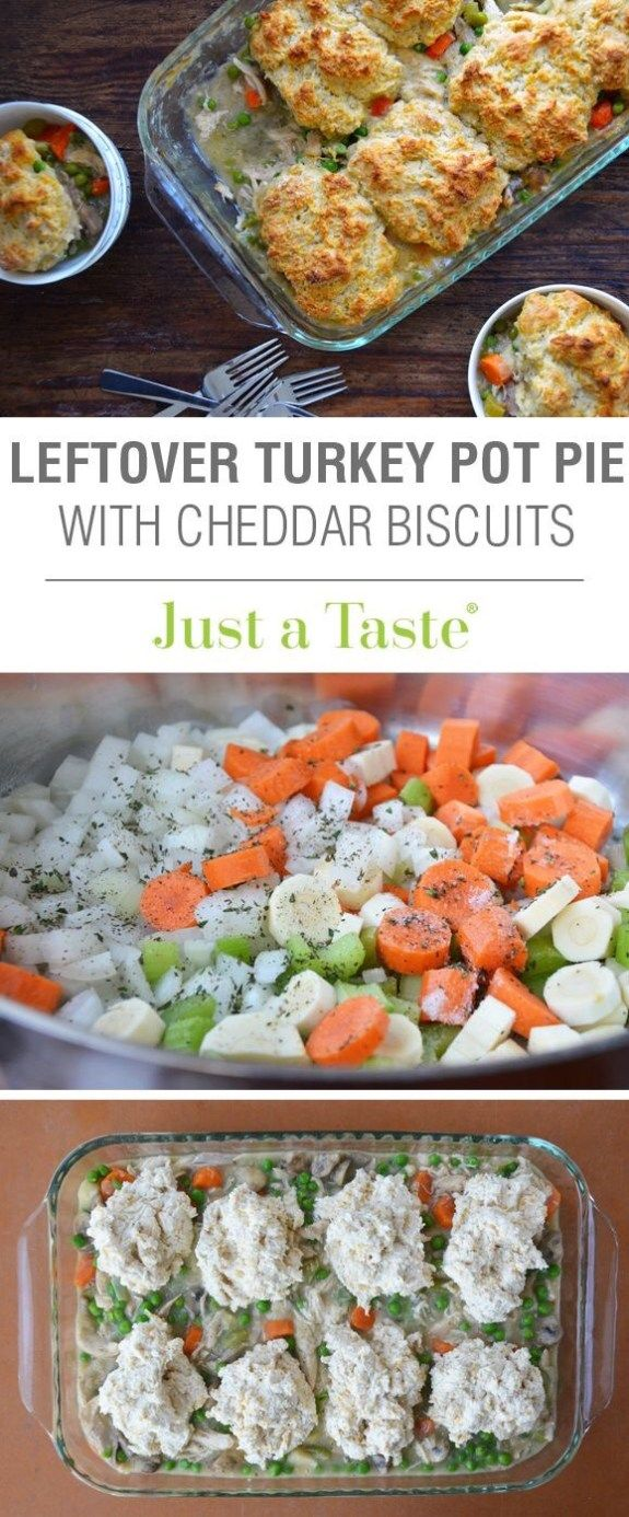 Photo of Leftover Turkey Pot Pie with Cheddar Biscuit Crust | Just a Taste