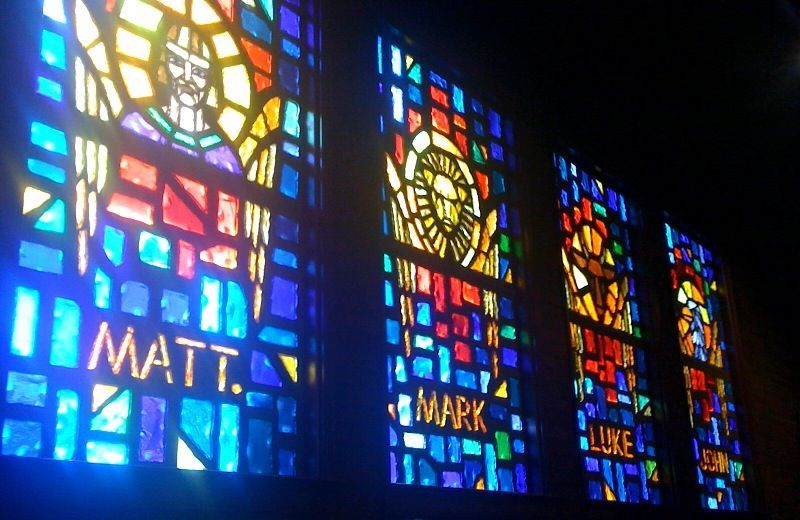 My church...love the stained glass windows..