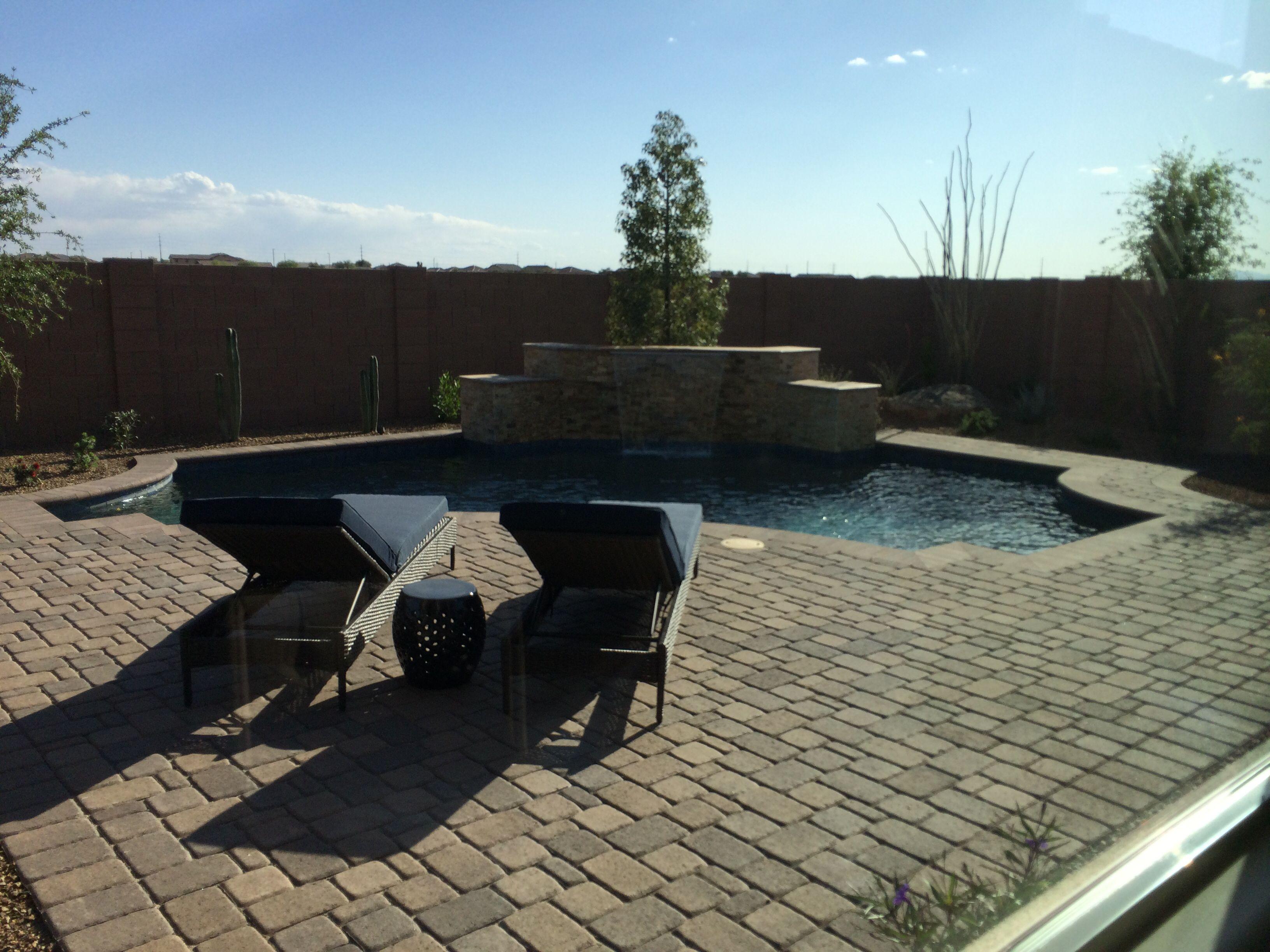 Pavers and pool