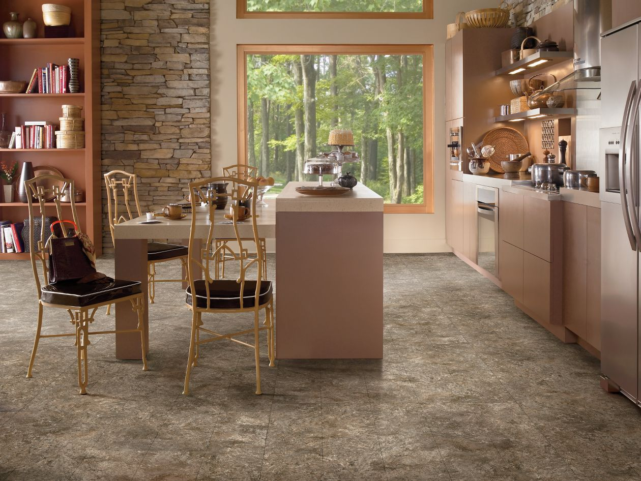 riverbed sandstone raisin vinyl flooring transitional kitchen design dining room floor on kitchen remodel vinyl flooring id=78042