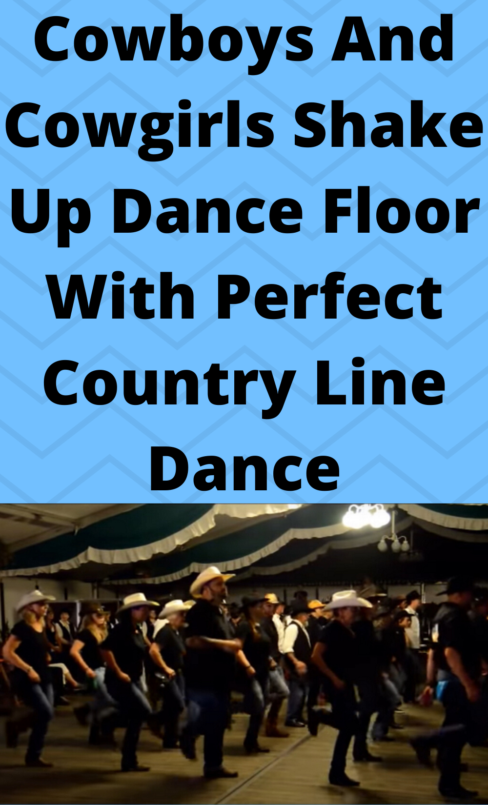 Cowboys And Cowgirls Shake Up Dance Floor With Perfect Country Line Dance