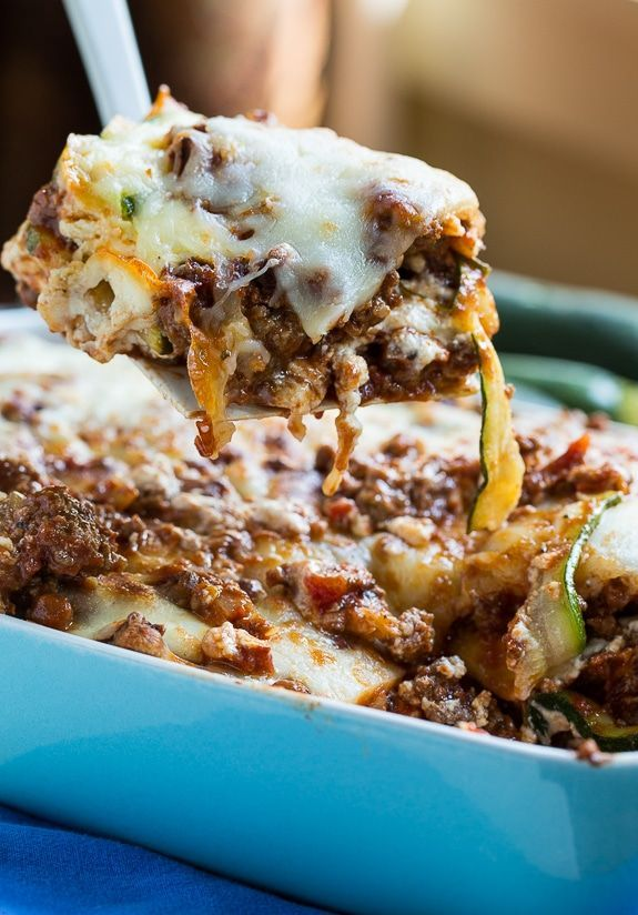 Zucchini Lasagna Zucchini Lasagna  a thick meat sauce and zucchini noodles make this a delicious glutenfree meal