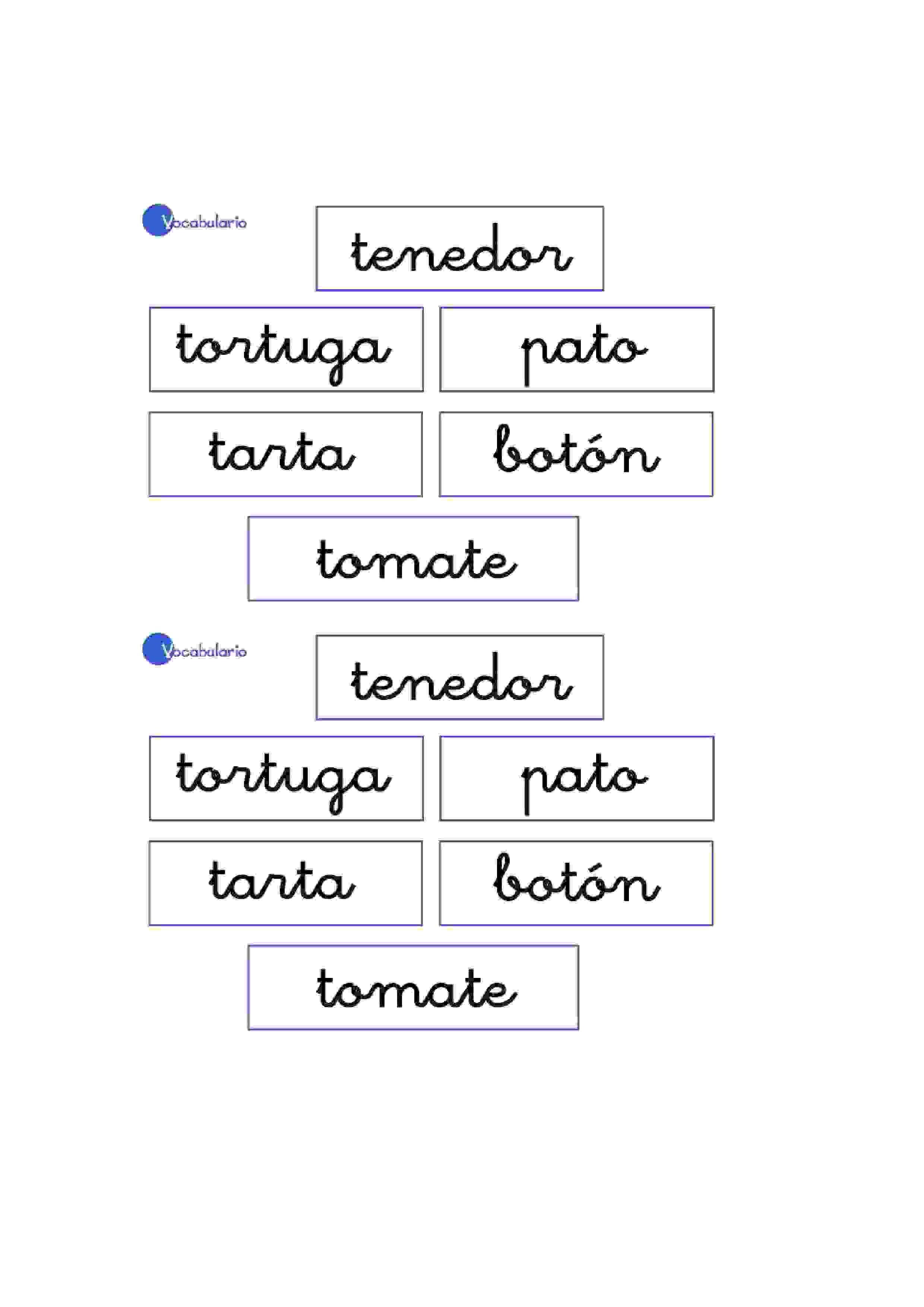 Lernübungen für kinder zu drucken. Vokabular Spanisch zu lernen 21 ...