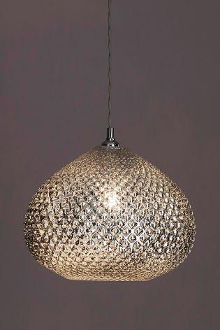 Buy Glamour Easy Fit Pendant From The Next Uk Online Shop Glass Ceiling Lights Light Fixtures Bedroom Ceiling Pendant Lights Uk