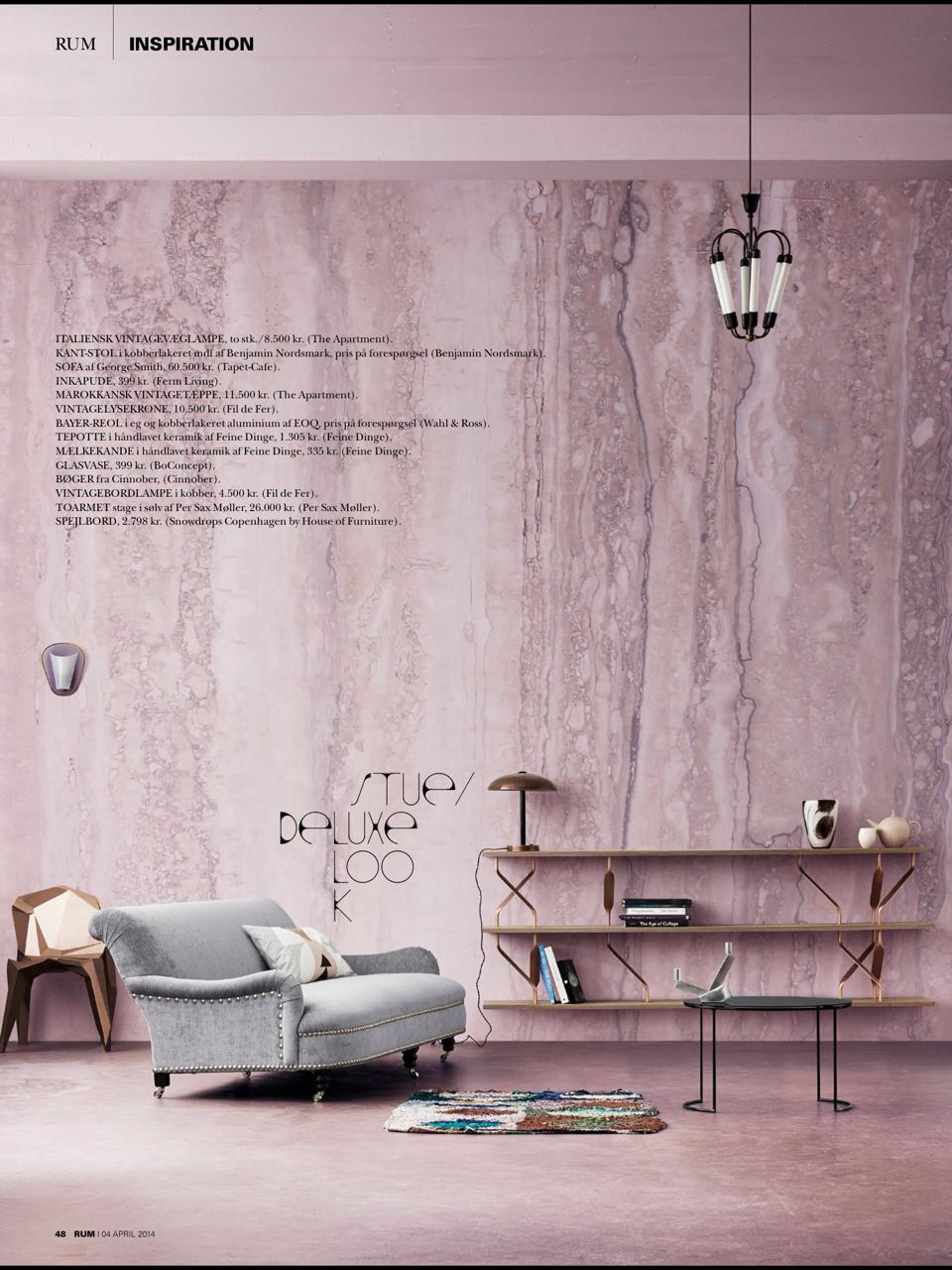 danish #Rum interior design styling magazine pink