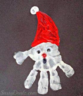 Cute christmas handprint crafts for kids - Sassydeals com ...
