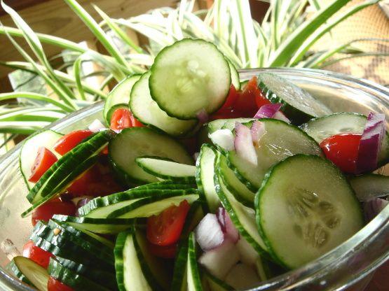 Tomato Cucumber Onion Salad Recipe - Food.com