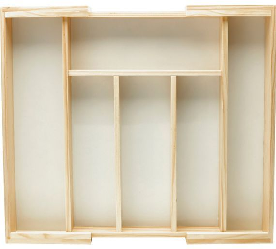 Buy HOME Wooden Expanding Cutlery Drawer at Argos.co.uk - Your Online Shop for Kitchen organisers, Kitchen storage, Cooking, dining and kitchen equipment, Home and garden.