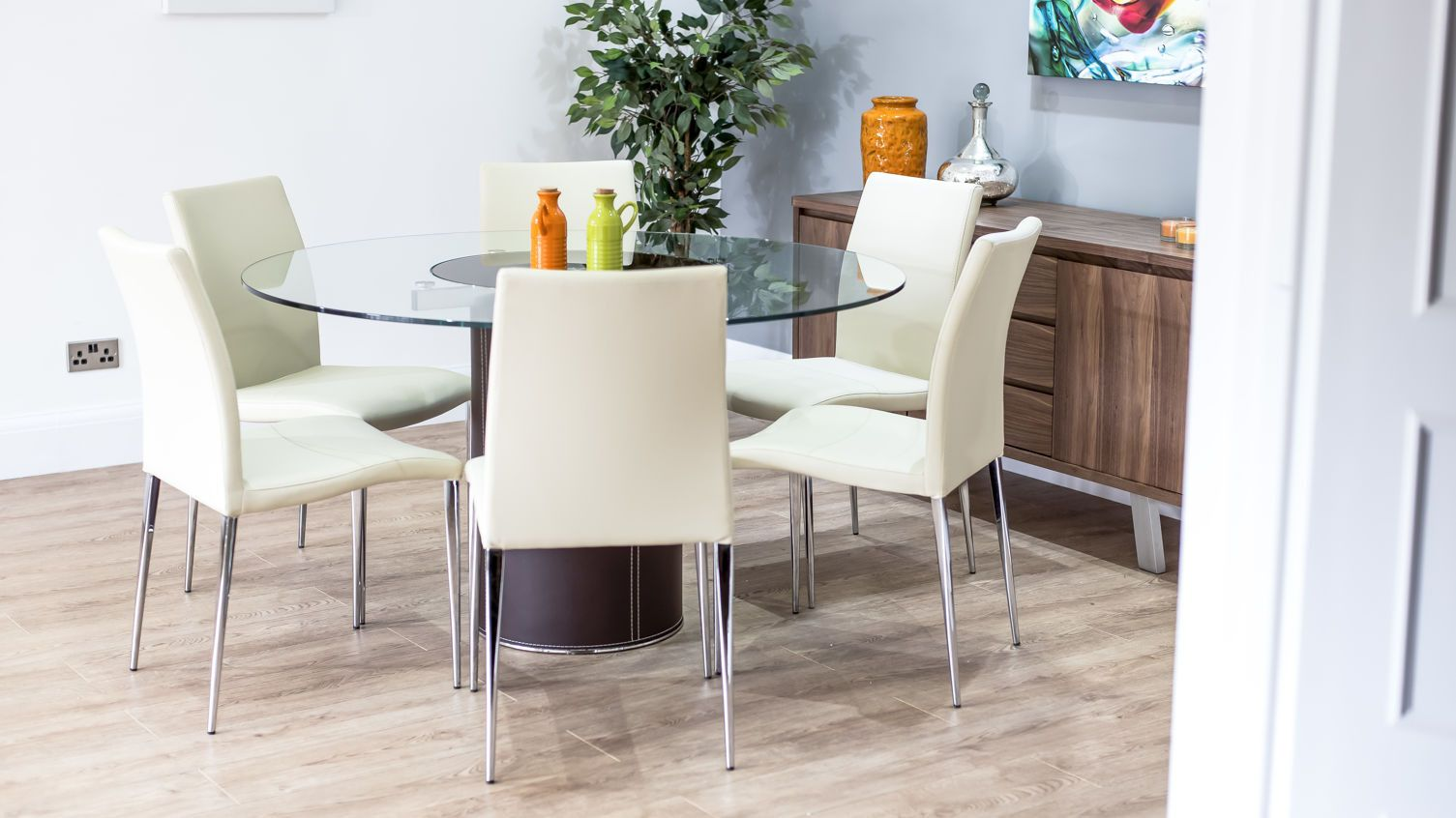 100 Round Glass Dining Table Set For 6 Best Modern Furniture