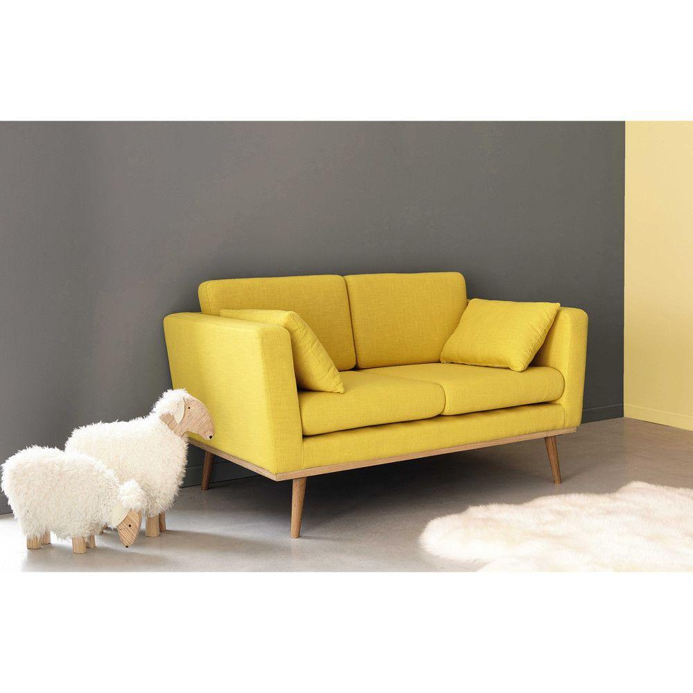 Divano vintage grigio 2 posti Sofa, Vintage sofa, Yellow