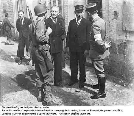 Image Le 6 Juin 1944 A St Mere Eglise Blog De Marechaussee Sainte Mere Eglise 6 Juin 1944 Garde Champetre