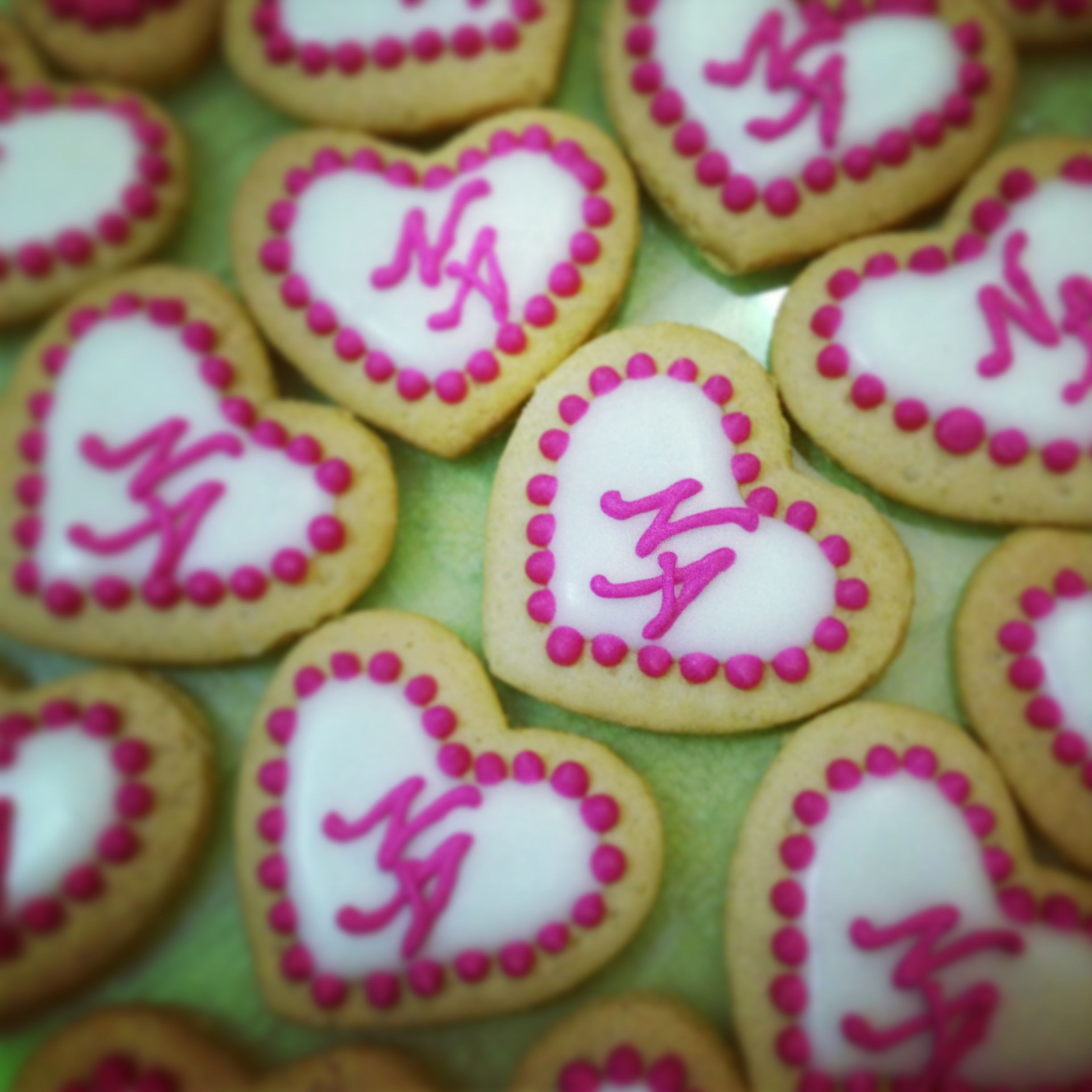 Heart shaped N&A cookies | From my kitchen | Pinterest