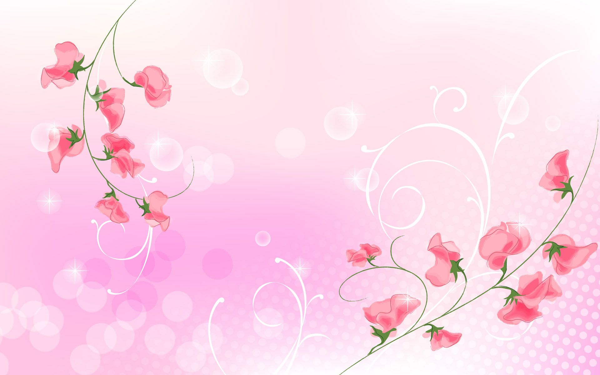 floral backgrounds | ... Flower and Light Pink Background, a Great Fit for Each Other - Cartoon