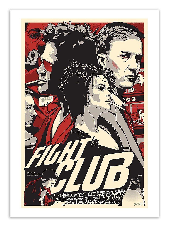 Affiche art 50 x 70 cm fight club film fanart