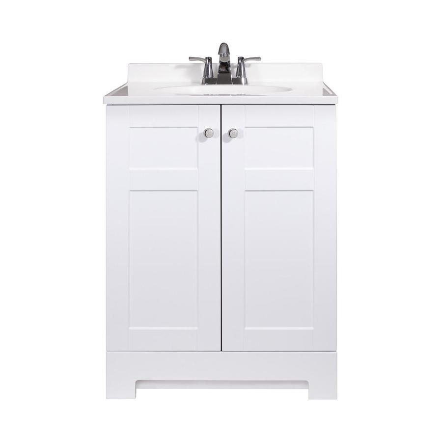 Style Selections White Integral Single Sink Bathroom ...