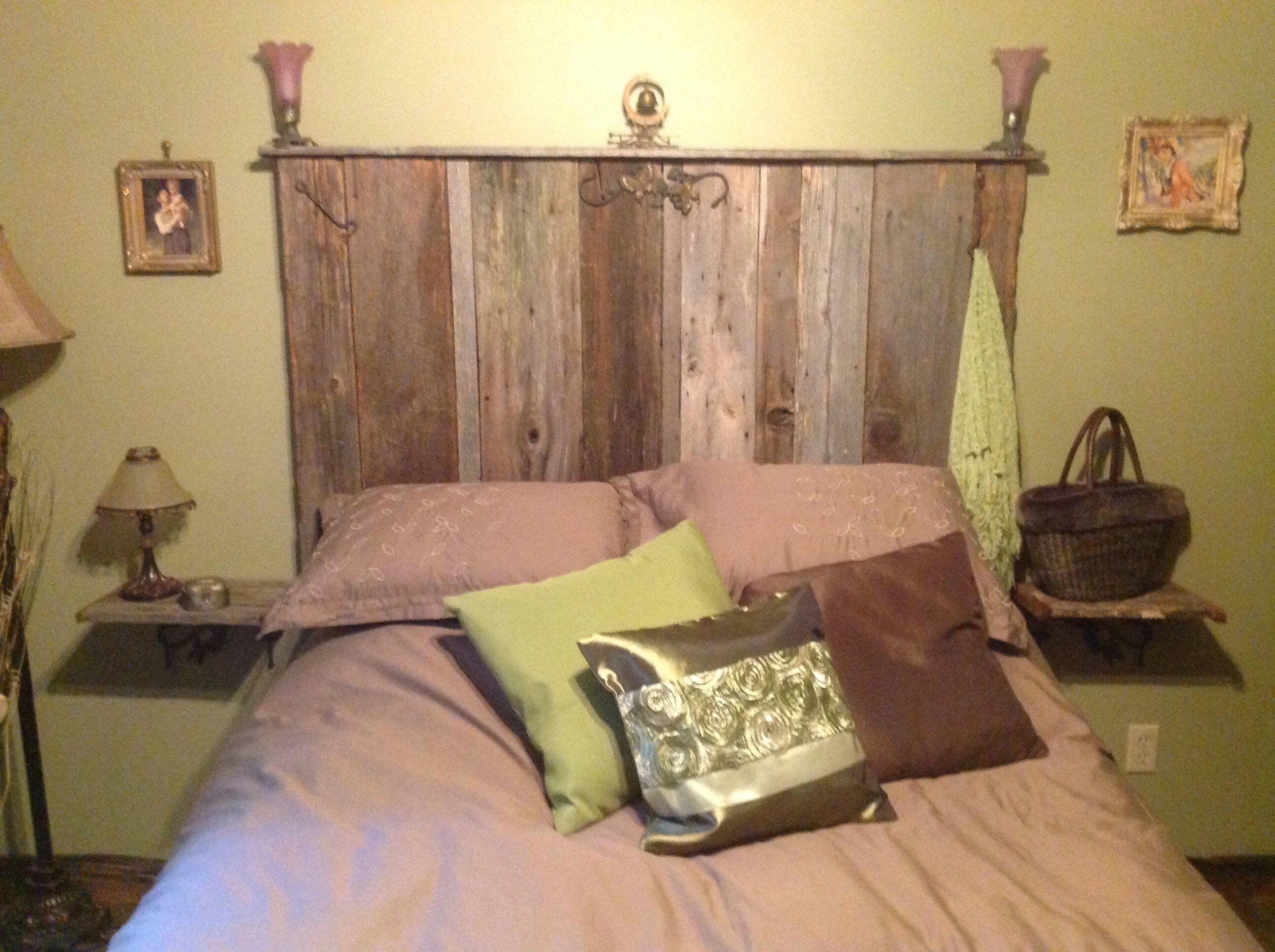 Tete Lit Bois De Grange : T?te de lit bois de grange bois grange Pinterest