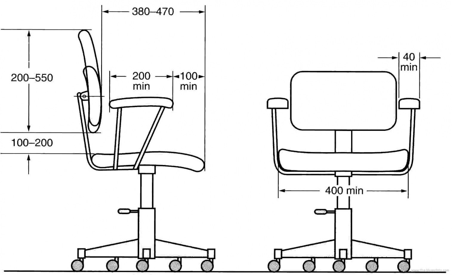 Typical Office Chair Dimensions