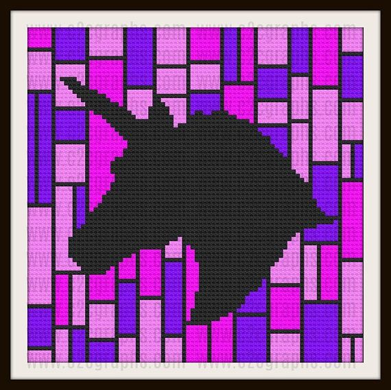 Unicorn in Pinks Afghan Crochet Pattern Unicorn C2C Graph   manta ...