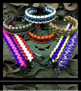 YW CAMP IDEA: 550 Paracord Cobra Bracelet  for girl's camp.