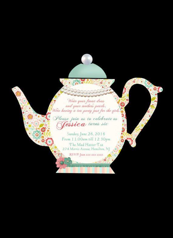Diy printable personalized teapot invitation high tea invite diy diy printable personalized teapot invitation high tea invite diy print cut out tea invitation teapot party invitationtea party invite filmwisefo