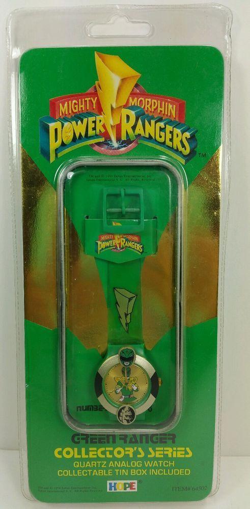 Power Rangers Quartz Analog Watch Green Ranger Collectors Series 1994 W/Tin  #HopeIndustriesInc