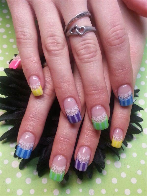 Day 156 Bright Colors Nail Art Color Wheel Nail Art Pinterest