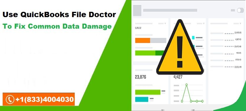 use quickbooks file doctor to fix many common types of data damage