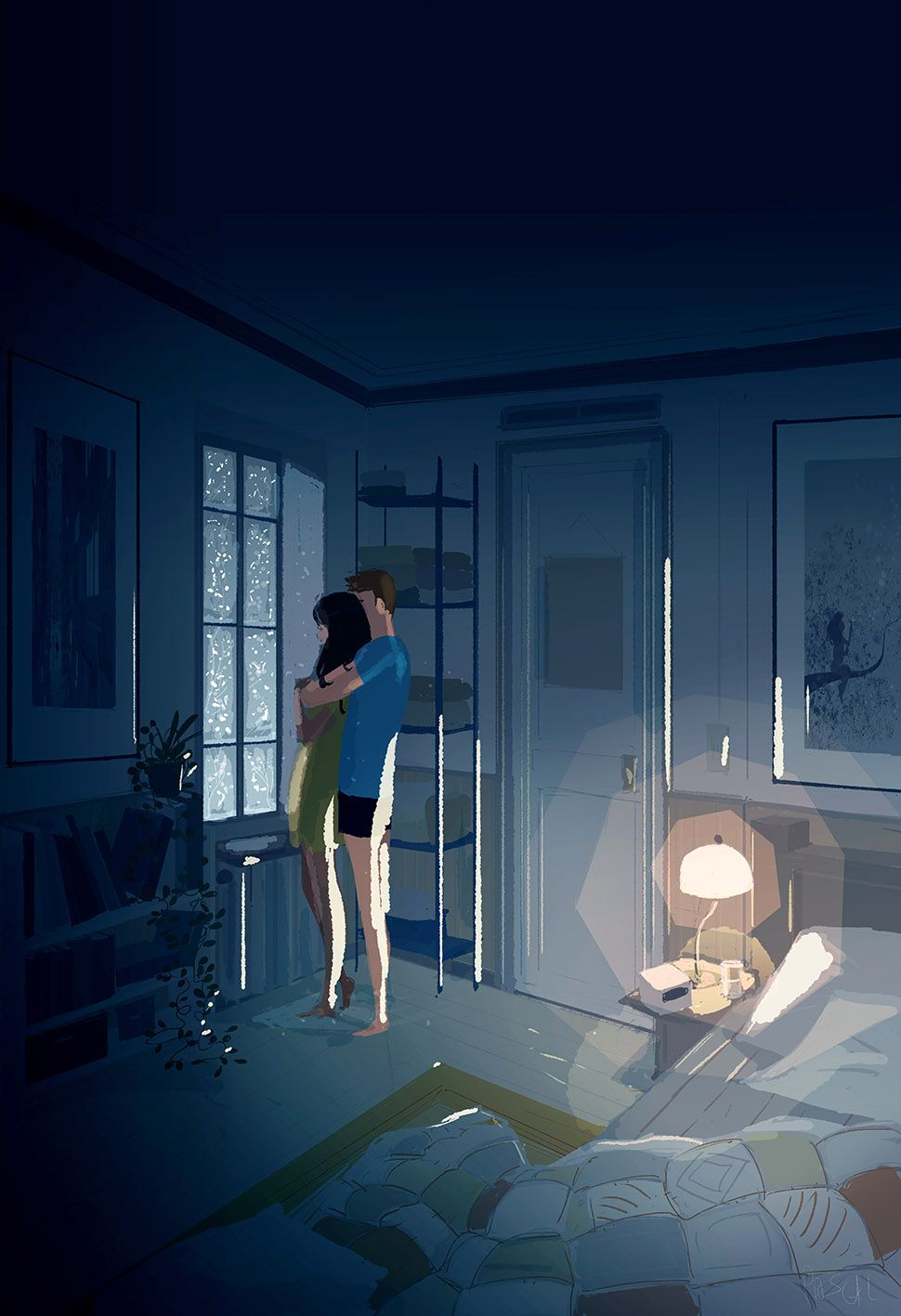 #pascalcampion. -Please...  -Yes?  -Don't let me go  -Never. Midnight by PascalCampion.deviantart.com on @DeviantArt
