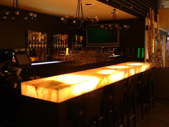 Bon Lit Frosted Glass Bar Top