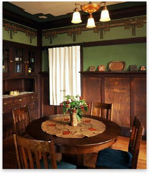 A Dream House For The Masses Craftsman Dining Room Craftsman Decor Craftsman Bungalow Interior