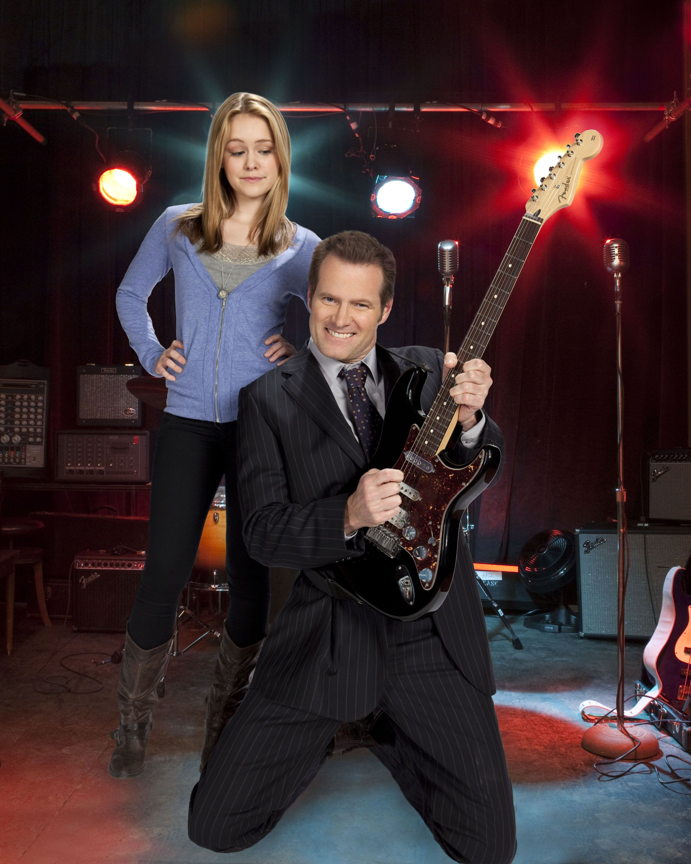 """Jack Coleman and Cassi Thomson in the Hallmark original movie, """"Rock The House"""""""