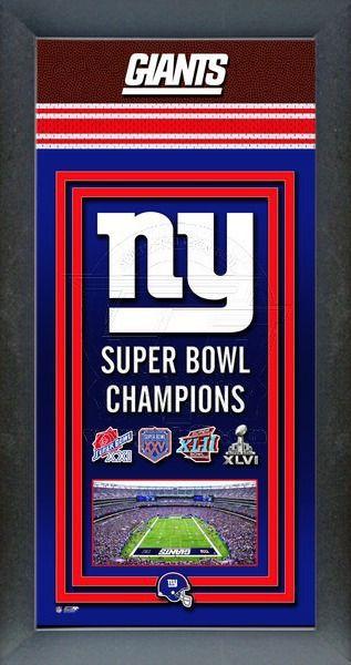 940fb7ac New York Giants Super Bowl Championship Banner   NFL Football Framed ...