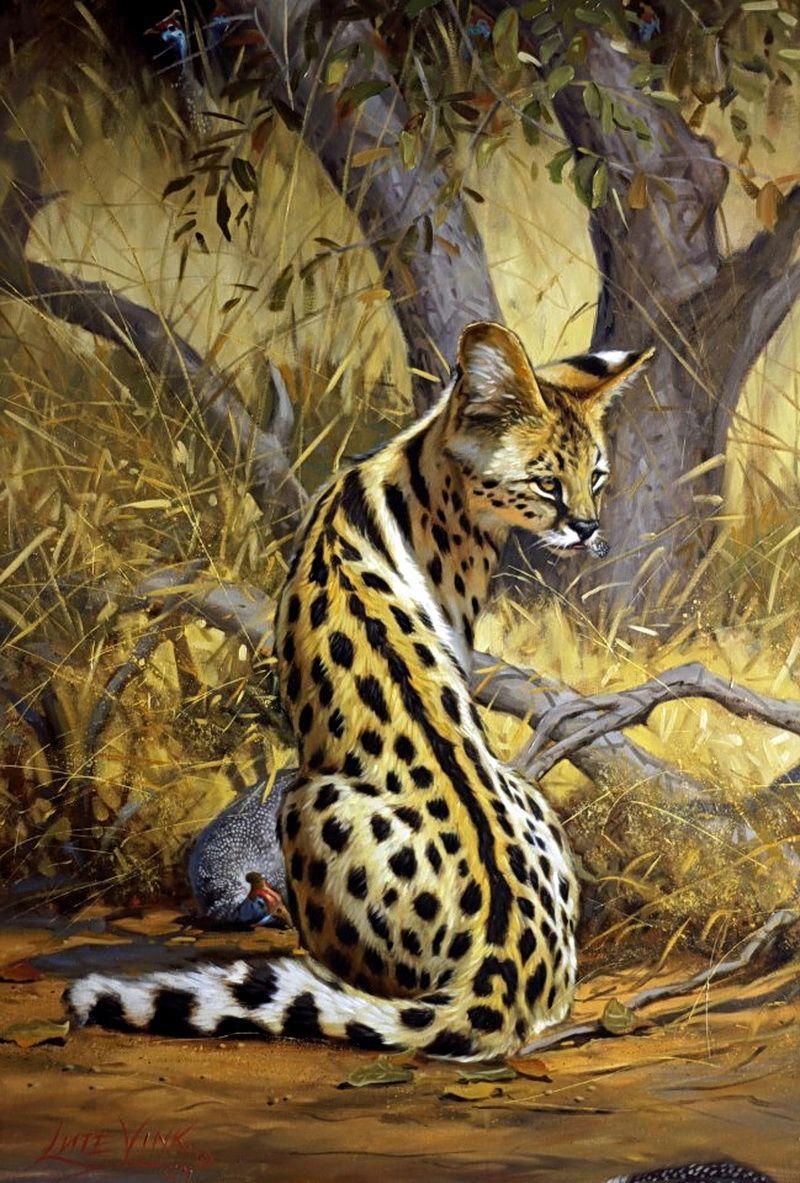 Lute Vink African Wildlife Art In 2019 Animal