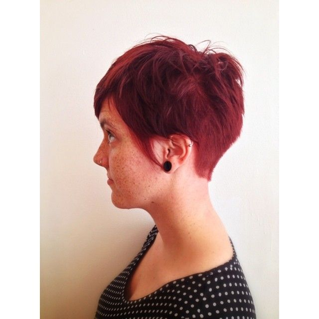 Side profile of Morgan's haircut, for those who are curious! #haircut #haircolor #CHI #hairbrained #moko #redhair #hair #instagood