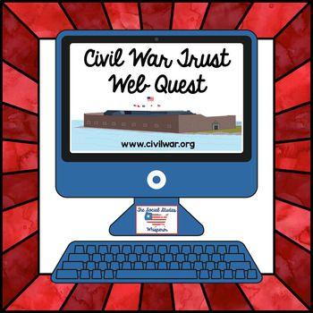 Civil War Webquest   Civil War   War, Civilization, Learning