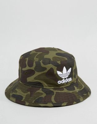 2423f43c30d adidas Originals Bucket Hat In Camo BK7618
