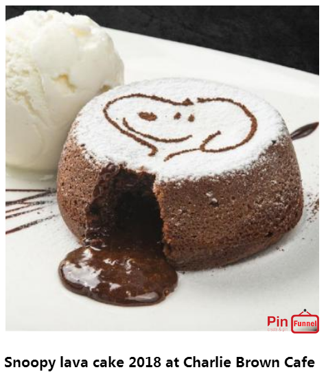 Best Snoopy Chocolate Lava Cake Specials Deal 2018 At Charlie Brown Cafe Orchard Road Singapore Th Chocolate Lava Cake Recipe Lava Cake Recipes Lava Cakes