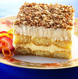 Enjoy this recipe for Almond Cream Cake using fresh Guidas Dairy