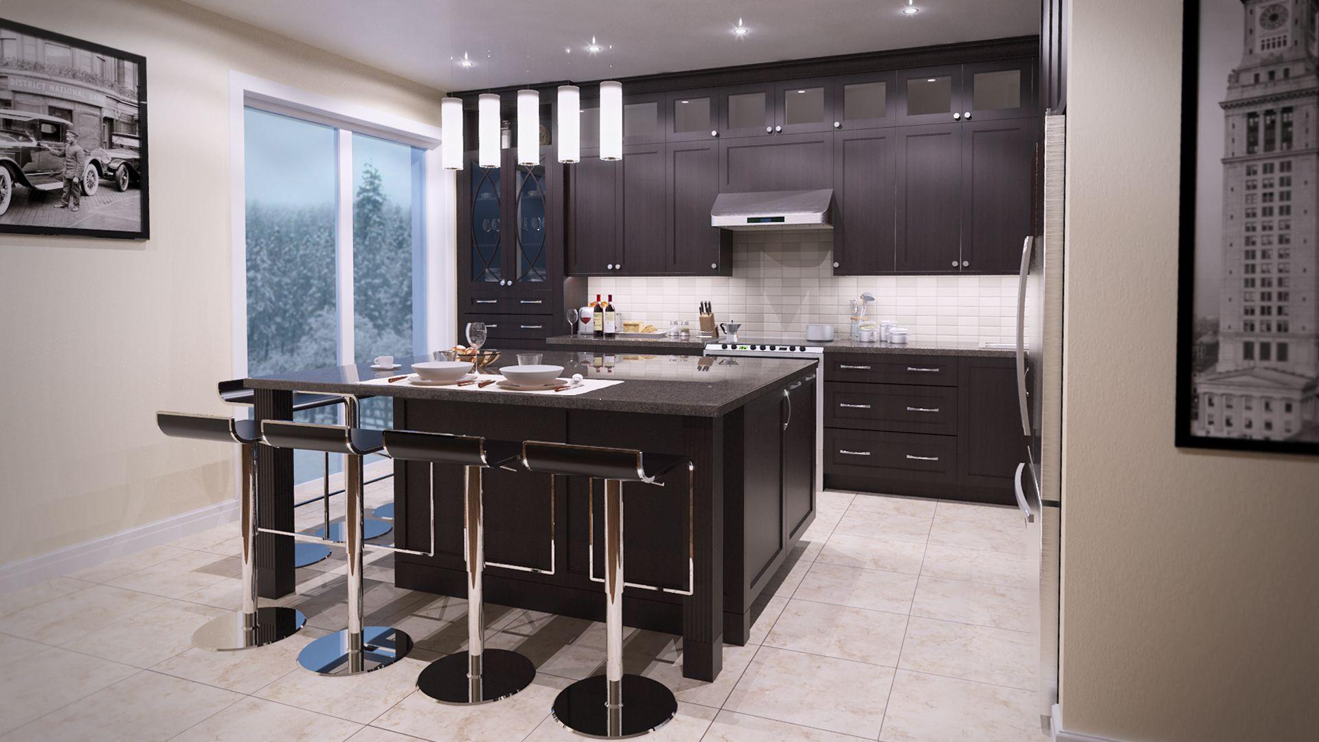Kitchen Design L Shape Medium Size With One Big Island Design By Www Smanzerdesign Com Contemporary Kitchen Design Kitchen Design Contemporary Kitchen Medium sized kitchen designs