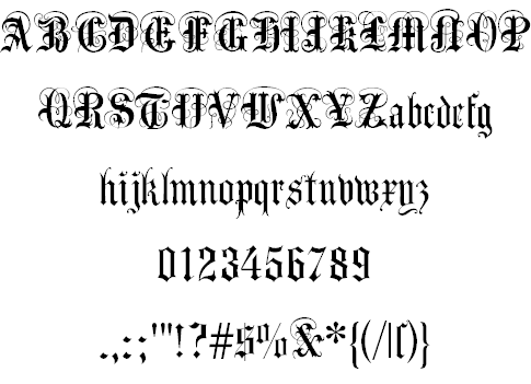 AnglicanText font by Dieter Steffmann | Victorian Typography
