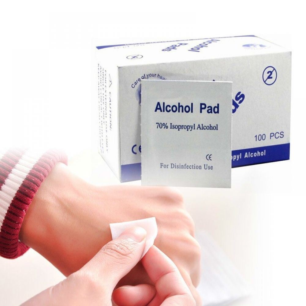 Isopropyl Alcohol Pad Wet Wipe Alcohol First Aid
