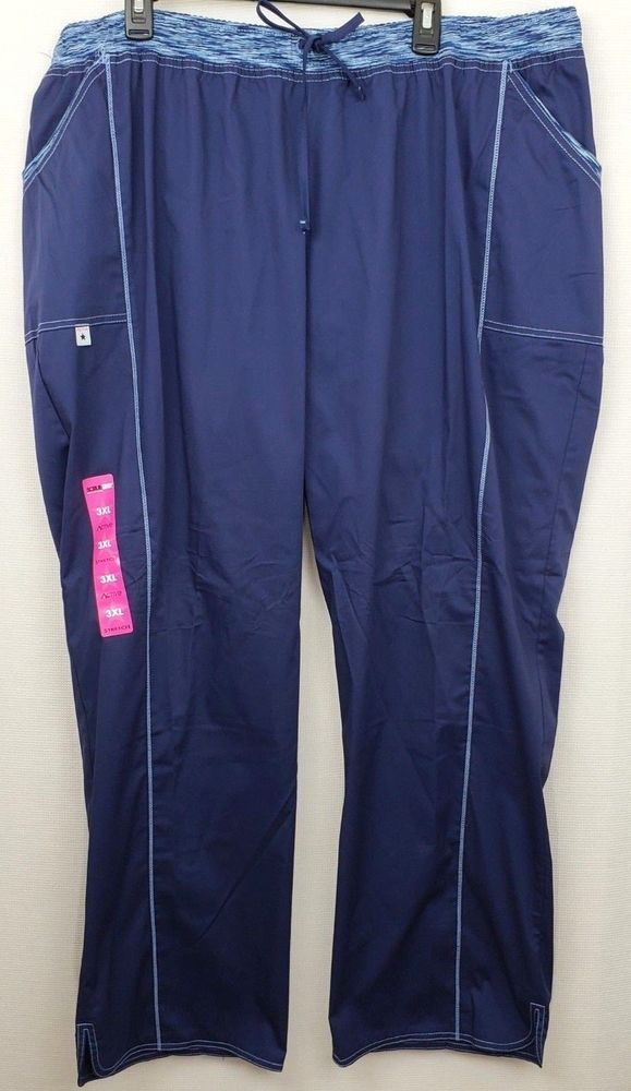 5b7a3b06d5c Scrubstar Women's Straight Leg Active Stretch Scrub Pants Size 3XL Blue # Scrubstar