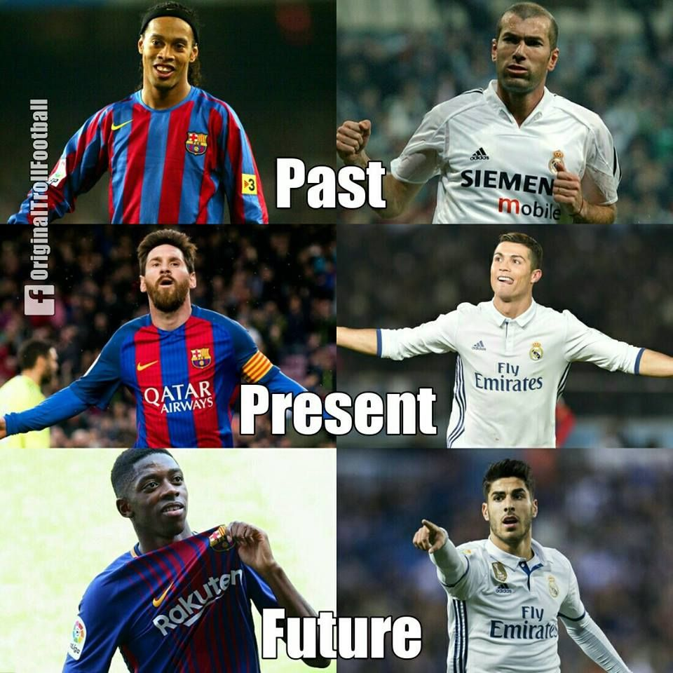 Bitter Rivals From Past To Present El Clasico May Be A Thing Of The Past Soccer Memes Funny Soccer Memes Soccer Funny