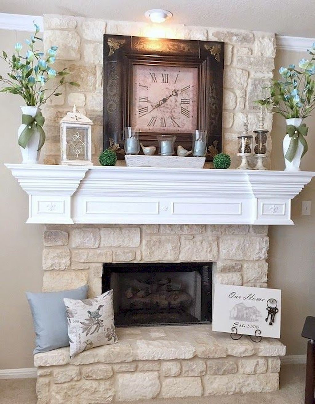 Photo of 55 Awesome Spring Mantel Decorating Ideas – HomeIdeas.co