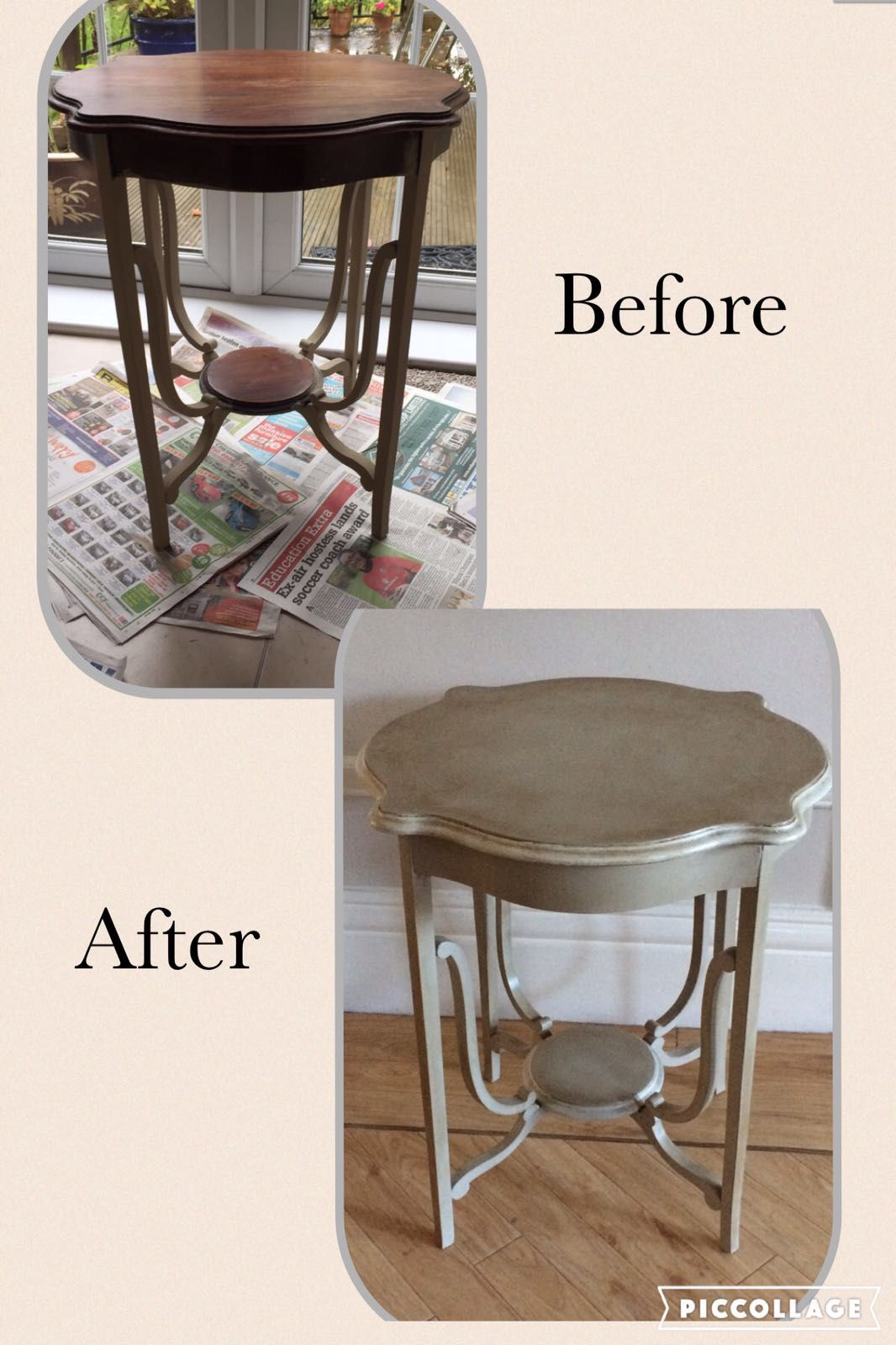 A Lovely Vintage Side Table Painted In Sloan Chalk Paint And Given A Dark  Wax Finish To Give A Beautiful Aged Effect.