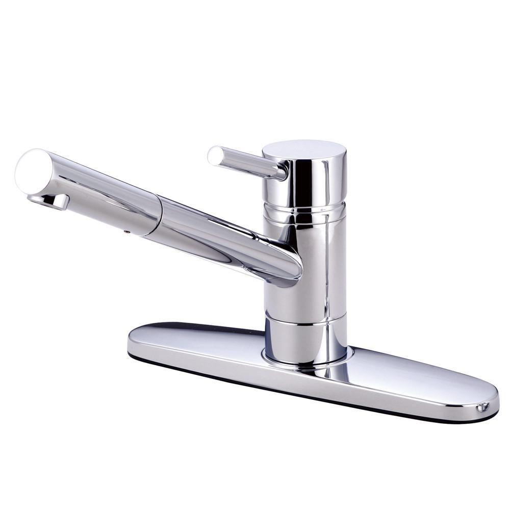 Kingston Brass Concord Chrome Single Handle Kitchen Faucet