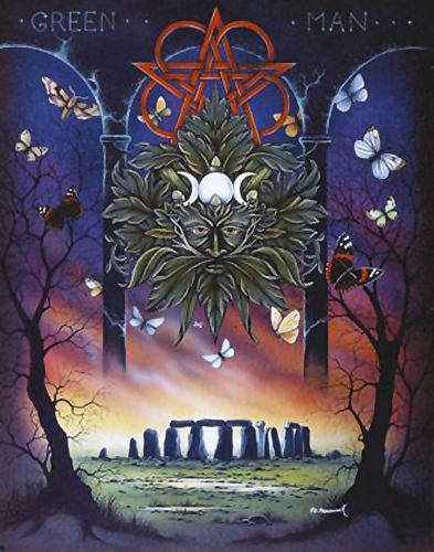 Green man greeting card peter pracownik stonehenge pentacle wiccan green man greeting card peter pracownik stonehenge pentacle wiccan pagan greeting card m4hsunfo