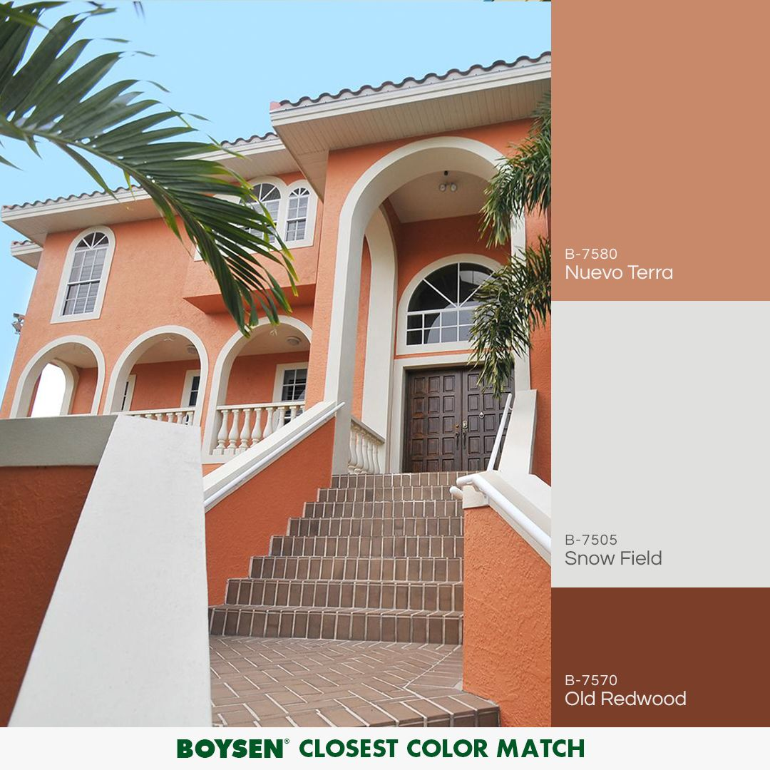 An earthly hue that brings a sense of inviting warm terracotta is a color that goes well on the exterior of various home designs and styles